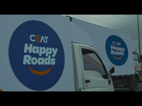 CEAT Ambient Ad - Happy Roads