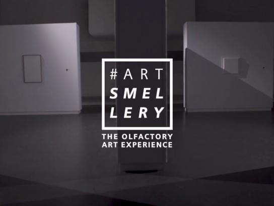 Siemens Experiential Ad - #artSmellery: beleef de geur van kunst