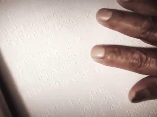 National Blind Unit of Peru Digital Ad -  The first post in Braille