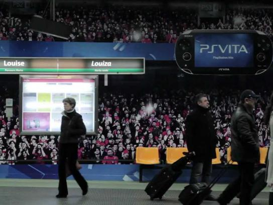 PlayStation Ambient Ad -  Metro station take-over