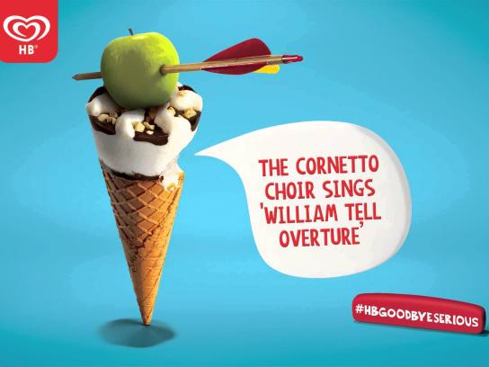 Cornetto Audio Ad -  Goodbye Serious - William Tell