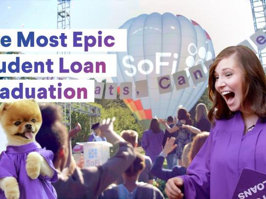SoFi Experiential Ad - The Most Epic Student Loan Graduation