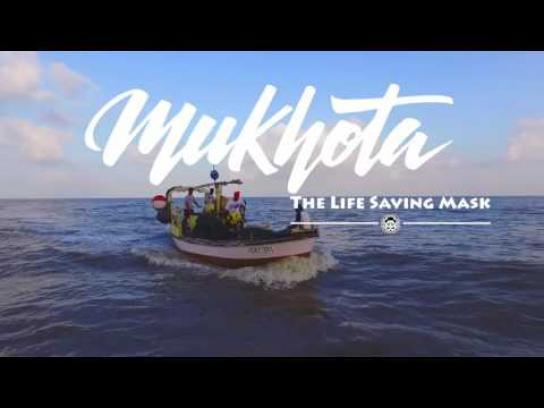 Kinetic Ambient Ad - Mukhota - the life saving mask
