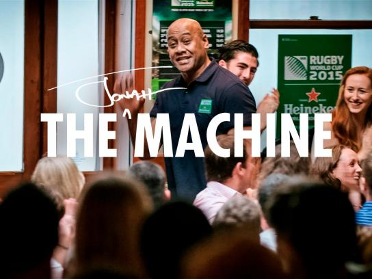 Heineken Ambient Ad -  The Jonah Lomu Machine