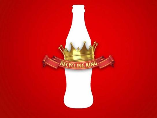 Coca-Cola Ambient Ad -  The Recycling King