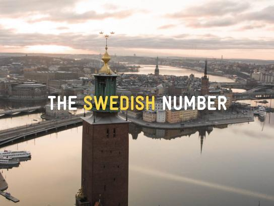 Swedish Tourist Association Ambient Ad -  The Swedish Number