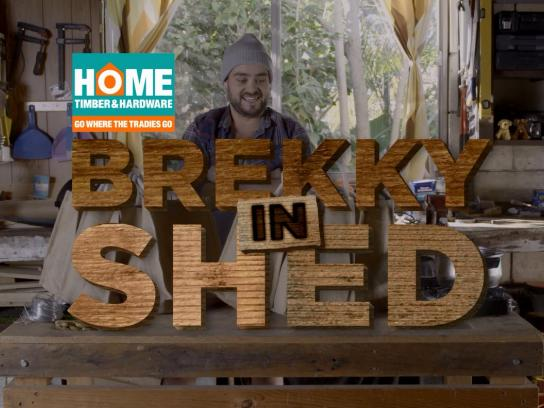 Home Timber & Hardware Film Ad -  Brekky in shed
