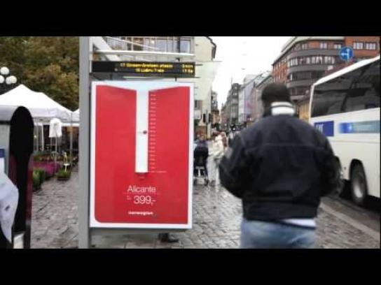 Norwegian Outdoor Ad -  Rain Gauge