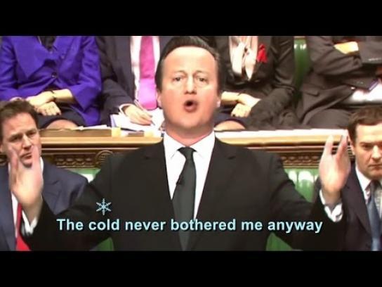 Energy Bills Revolution Digital Ad -  Politicians in Frozen the Musical
