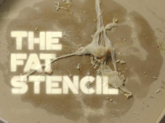 Adexo Outdoor Ad - The fat stencil