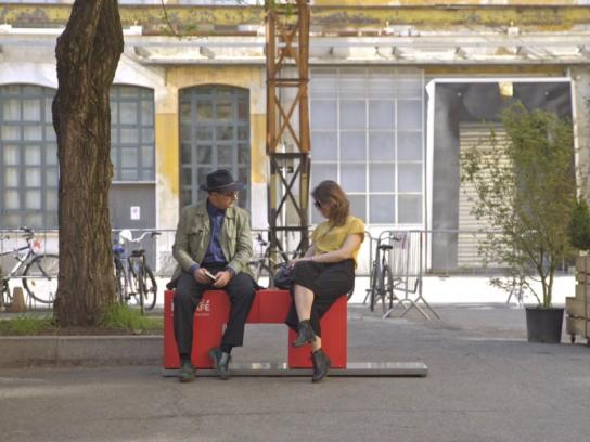 Nescafe Ambient Ad - The Hello Bench
