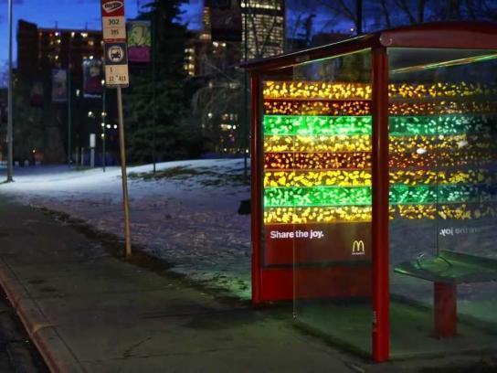 McDonald's Outdoor Ad -  Big Mac Glow