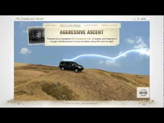 Nissan Digital Ad -  Create your Terrain
