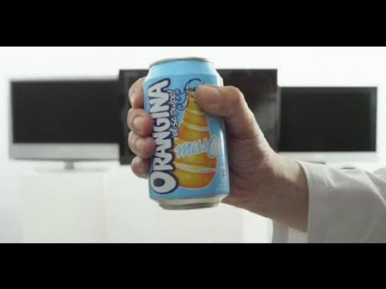 Orangina Ambient Ad -  The Antifoot Can