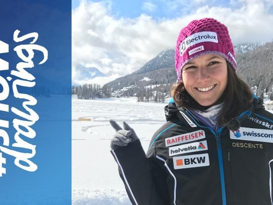 Swisscom Digital Ad - Snow drawings