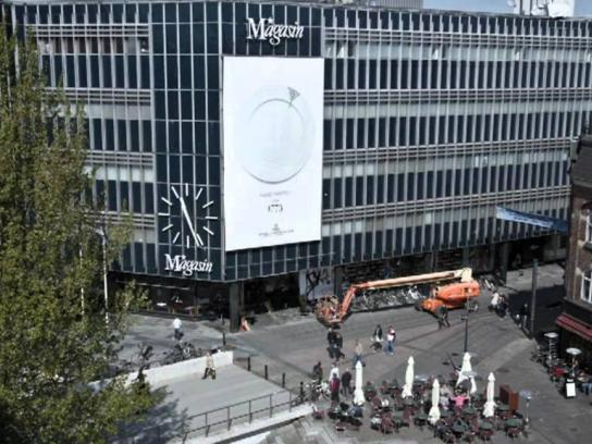 Royal Copenhagen Outdoor Ad -  Handpainted outdoor