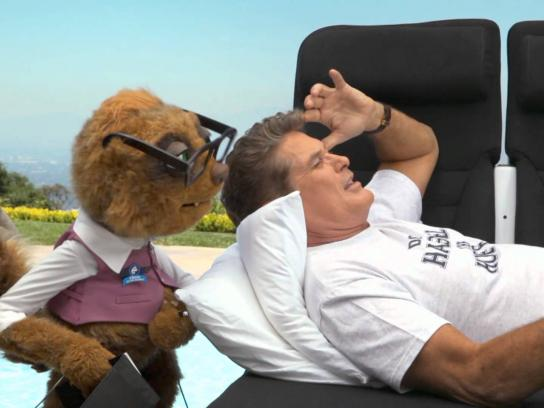 Air New Zealand Film Ad -  David Hasselhoff - On the Skycouch with Rico