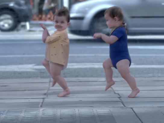Evian Film Ad -  Baby & Me
