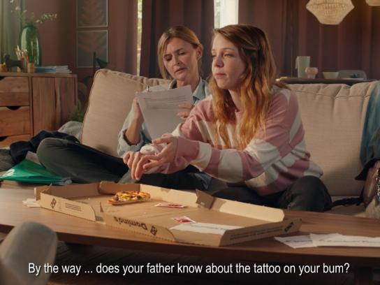 Domino's Film Ad - Little Blackmails - Mother & Daughter