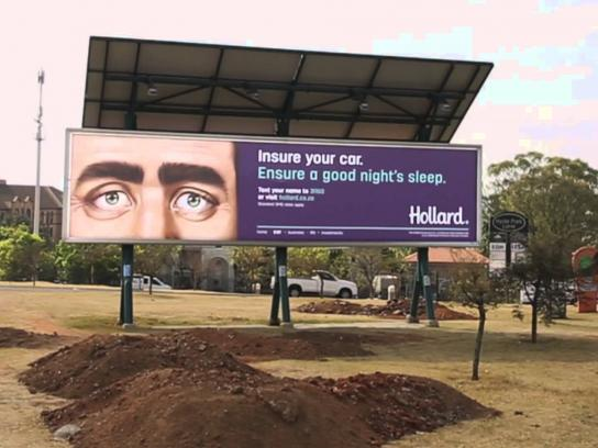 Hollard Insurance and Investments Outdoor Ad -  The sleeping billboards