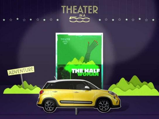 Fiat Ambient Ad -  Theater in a 500