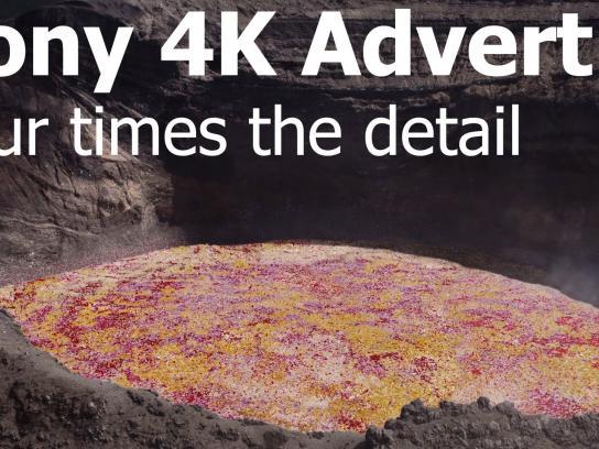 Sony Film Ad -  Petals volcano