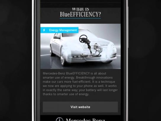Mercedes Digital Ad -  Technology In Your Pocket