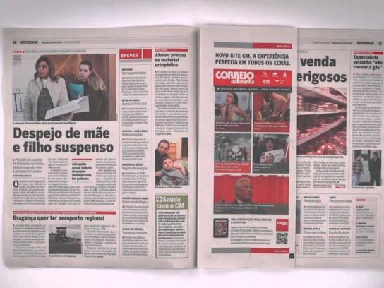 Correio da Manhã Print Ad -  Responsive print ad