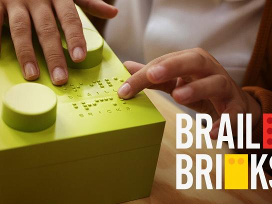 Dorina Nowill Foundation for the Blind Digital Ad - Braille Bricks