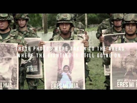 Ministry of National Defense Colombia Outdoor Ad -  You Are My Son