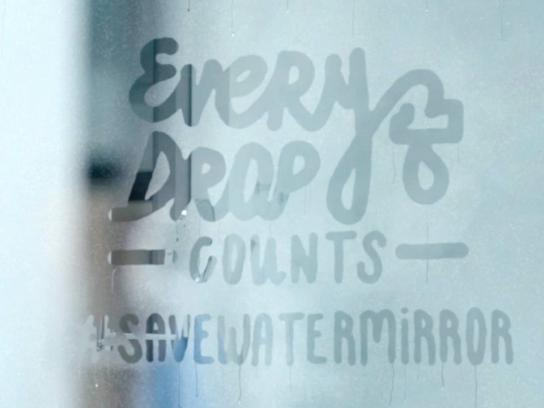Colgate Direct Ad - Save water mirror
