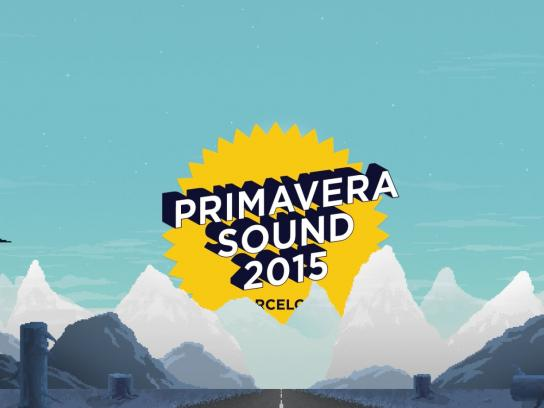Primavera Sound Digital Ad -  Line-App 2015