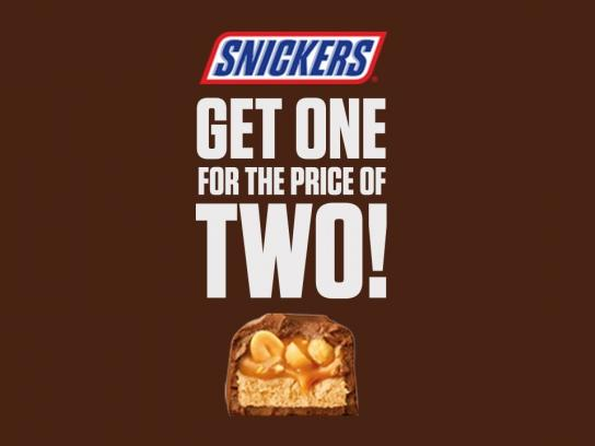 Snickers Film Ad - One SNICKERS for the price of two?