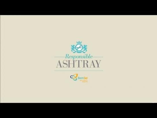 BemSer Ambient Ad -  Responsible ashtray