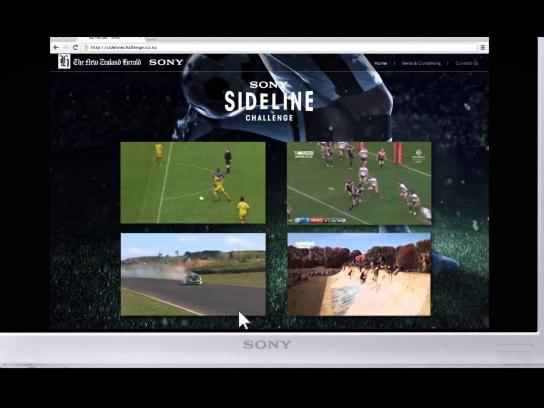 Sony Print Ad -  Sony Sideline Challenge