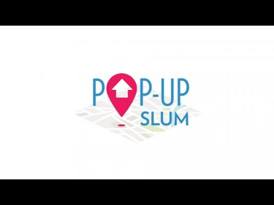 TECHO Ambient Ad -  Pop-Up Slum