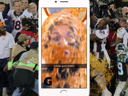 Gatorade Digital Ad -  Super Bowl dunk lens
