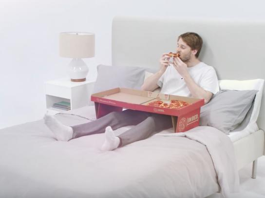 Boston Pizza Design Ad - BP in Bed