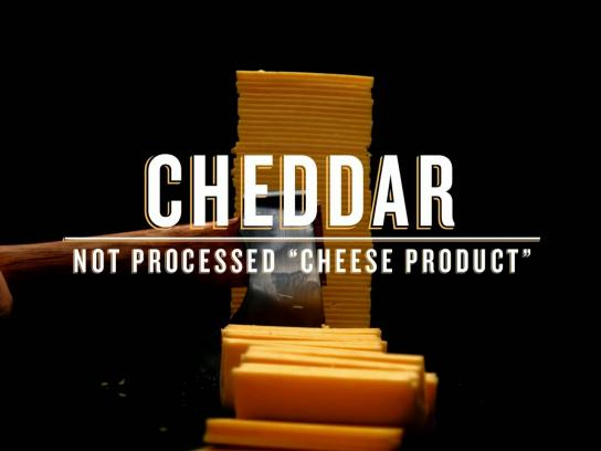Tillamook Film Ad -  Cheddar not processed cheese product