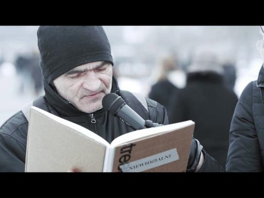 The Invisibles Experiential Ad - The book you cannot read at home