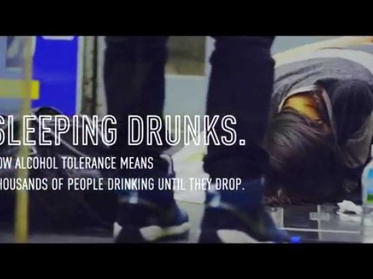 Yaocho Bar Group Ambient Ad -  Sleeping Drunks Billboard