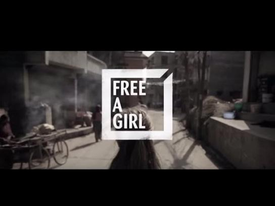 Free a Girl Digital Ad -  How charities became donors