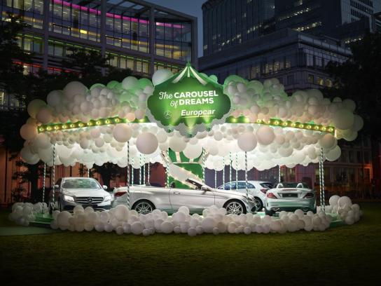 Europcar Ambient Ad - Carousel