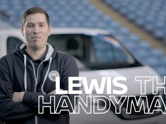 Nissan Film Ad - Lewis the Handyman - People Raising the Game with Nissan NV300