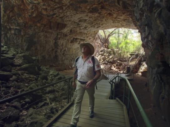 Tourism Queensland Film Ad - Bram Collins at Undara Volcanic National Park