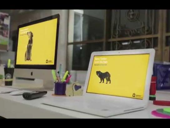 Pedigree Digital Ad -  Screen and dog saver