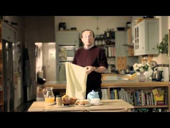 Unum Film Ad -  Whipping a table cloth out from under a full laden table
