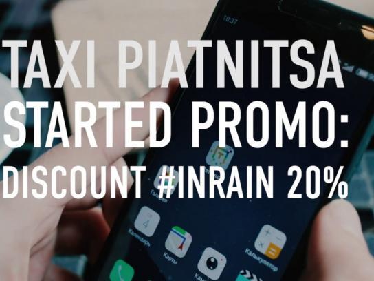 Taxi Piatnitsa Digital Ad - Taxi #InRain