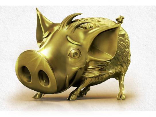 Kofola Ambient Ad - Golden Piggy