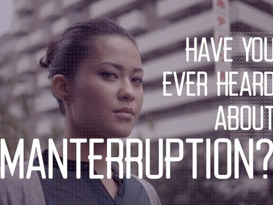 Woman Interrupted Digital Ad - An app that detects Manterruption